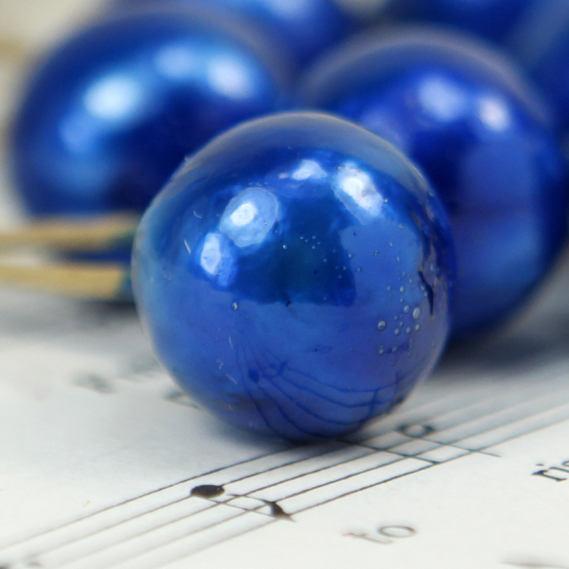 Blue - Ball - Bead - Ornament - Set of 8 - 6-708-1507B